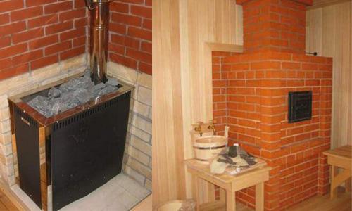 из чего строить банную печь
