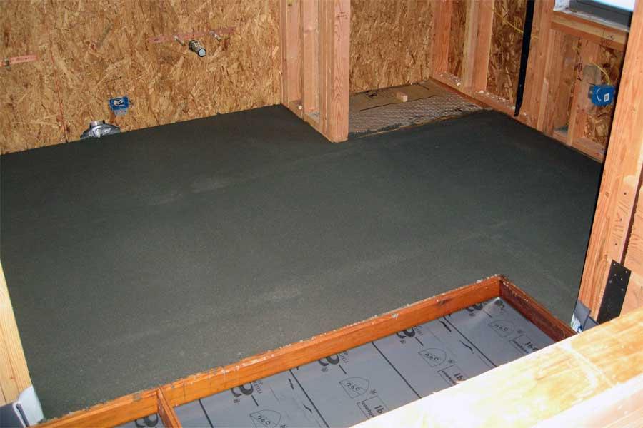 Как сделать бетонный пол в каркасной бане