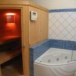 сайна в ванной комнате